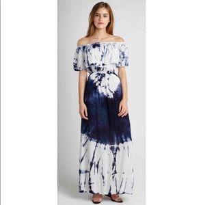 Fraiche by J off the shoulder tie dye maxi dress